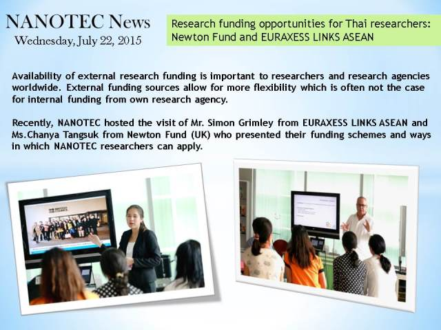 Research funding opportunities for Thai researchers