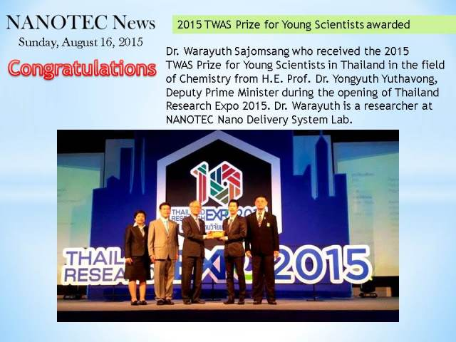 2015 TWAS Prize for Young Scientists awarded