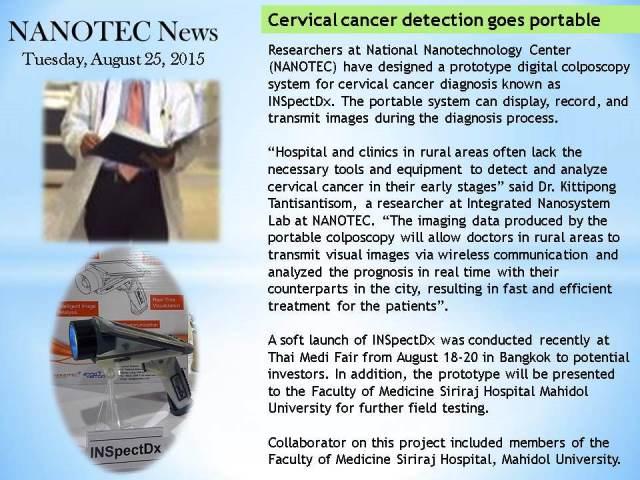 Cervical cancer detection goes portable (1)