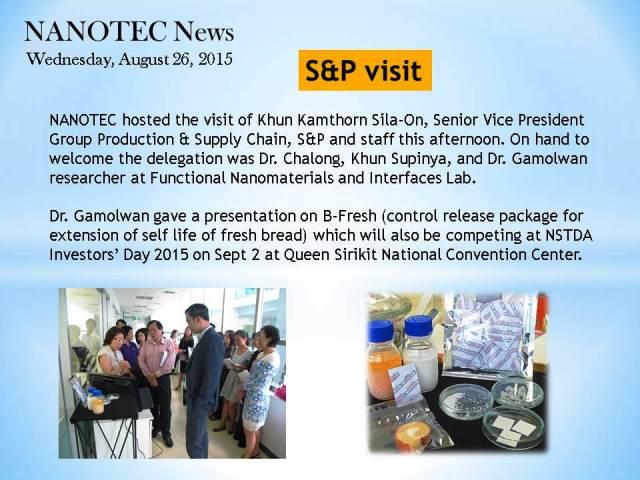 S&P visit