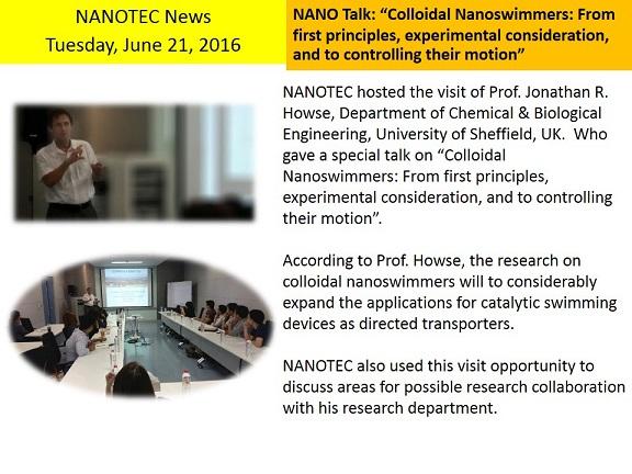 Nano Talk (June 21)