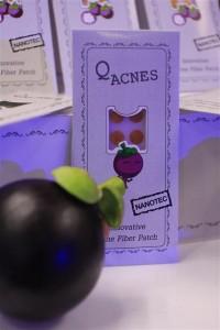 ตัวอย่างผลิตภัณฑ์แผ่นแปะสิว Q-Acnes